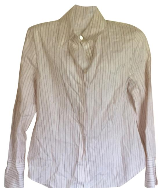 Preload https://item2.tradesy.com/images/ellen-tracy-white-striped-shirt-button-down-top-size-10-m-2255316-0-0.jpg?width=400&height=650