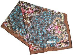 Tiffany & Co. TIFFANY & CO. SILK FLORAL SCARF