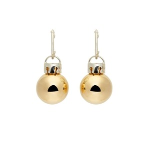 Balenciaga Gold & Silver December Ball Earrings