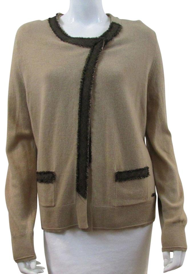 Escada Beige Sweater And Scoop Neck Set Cardigan Size 8 M Tradesy