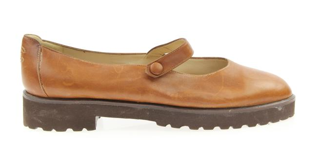 Item - Brown Mary Jane Leather Flats Size EU 38 (Approx. US 8) Regular (M, B)