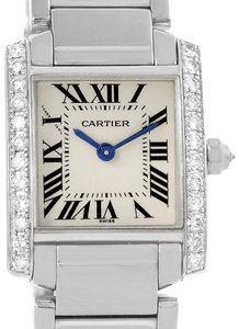Cartier Cartier Tank Francaise Small White Gold Diamond Ladies Watch WE1002S3