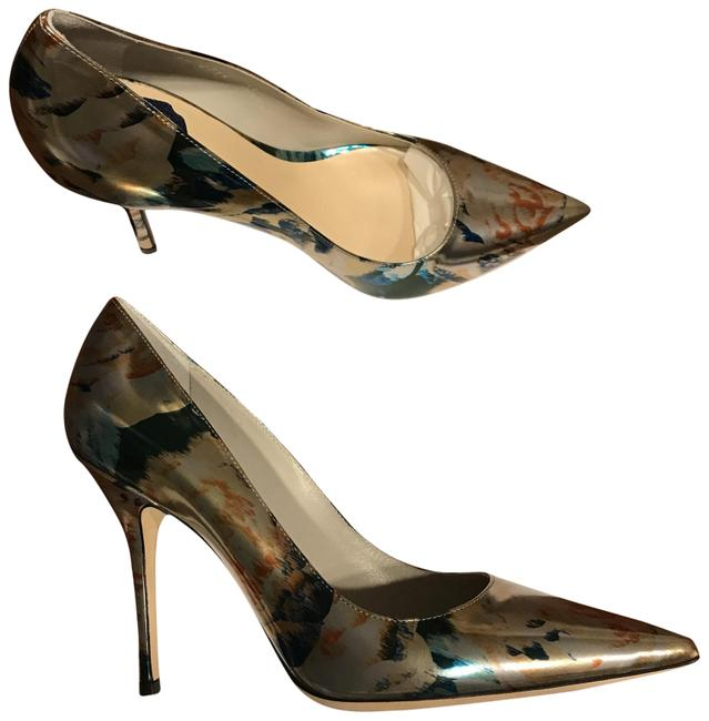Item - Silver Multi Color Cherie Pointy Pumps Size EU 38.5 (Approx. US 8.5) Regular (M, B)