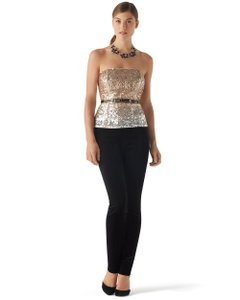 White House | Black Market Top Ombre sequins gold to silver
