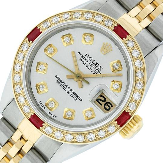 Preload https://img-static.tradesy.com/item/22554286/rolex-silver-ladies-datejust-and-18k-yellow-diamond-dial-ruby-watch-0-1-540-540.jpg