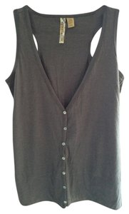 Eyeshadow 60% Cotton 40% Polyester Top Charcoal Grey