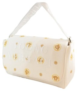 Versace Young Embroidered Classic Golden Diaper Bag