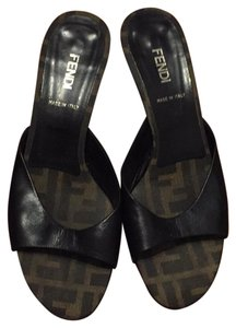 Fendi Dark Brown with Fendi monogram insoles Mules