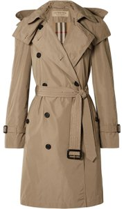 Burberry Hood Taupe Trench Coat