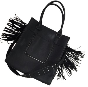 Black Rivet Tote in Black