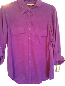 New York Nexx Button Down Shirt Purple