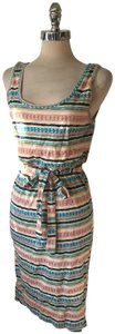 Threads 4 Thought short dress Pastels Belted Sundress World Market on Tradesy