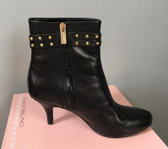 Bandolino Studded Leather Ankle Holiday Black Boots