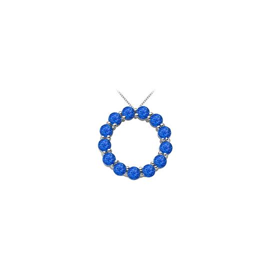 Preload https://img-static.tradesy.com/item/22555090/blue-silver-created-sapphire-of-september-birthstone-circle-necklace-in-sterling-s-0-0-540-540.jpg