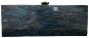 Edie Parker Acrylic Marbled Blue Clutch