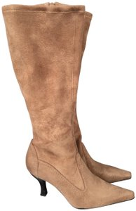 Franco Sarto Suede Pointed Toe Holiday Fall Camel Brown Boots