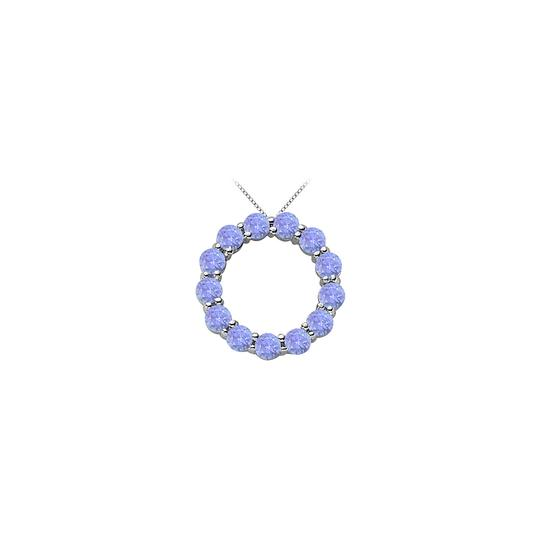 Preload https://img-static.tradesy.com/item/22555161/blue-silver-created-tanzanite-circle-of-life-pendant-in-rhodium-treated-sterling-s-necklace-0-0-540-540.jpg