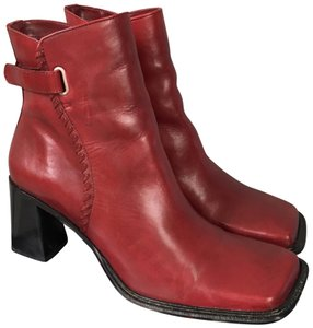 Diba Holiday Ankle Block Heel Fall Red Boots