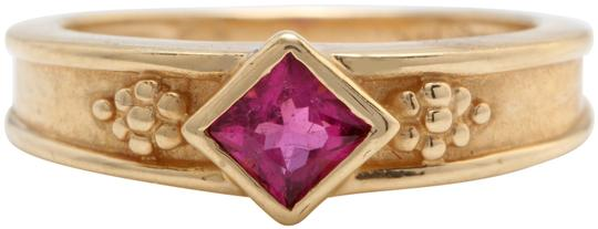 Other .35 Carat Natural Pink Tourmaline in 14K Solid Yellow Gold Women Ring