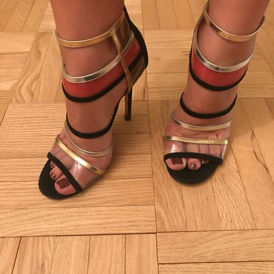 Jimmy Choo Black with pink, gold and silver Pumps