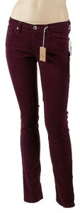 AG Adriano Goldschmied Stilt Skinny Pants Maroon