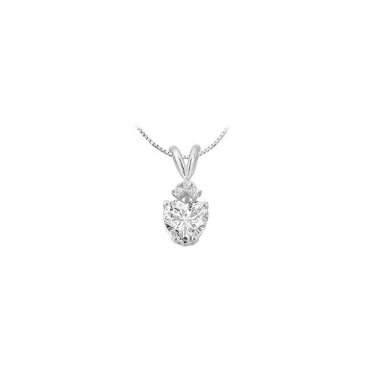 Preload https://img-static.tradesy.com/item/22555532/white-cubic-zirconia-heart-pendant-gold-14k-with-103-carat-total-g-necklace-0-0-540-540.jpg