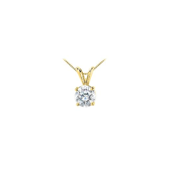 Preload https://img-static.tradesy.com/item/22555559/white-yellow-gold-cubic-zirconia-solitaire-pendant-in-14k-5-carat-brilliant-necklace-0-0-540-540.jpg