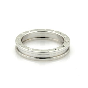 BVLGARI Bulgari B Zero-1 Single 18k White Gold 4.5mm Band Ring Size EU 57