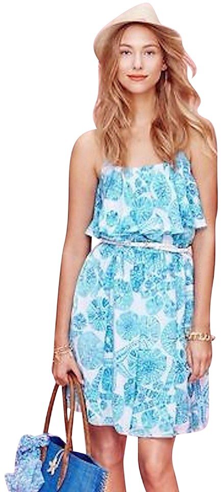 3c26e2c7ba6 Lilly Pulitzer for Target Blue Green White Sea Urchin Short Casual ...