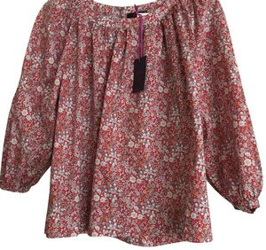 J.Crew Top Red Floral