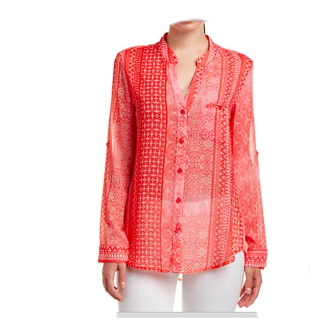 Preload https://img-static.tradesy.com/item/22555749/kut-from-the-kloth-coral-sheer-button-xl-print-blouse-size-16-xl-plus-0x-0-0-650-650.jpg