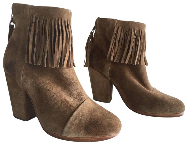 Item - Camel Newbury Fringe Suede Ankle Boots/Booties Size EU 36 (Approx. US 6) Regular (M, B)