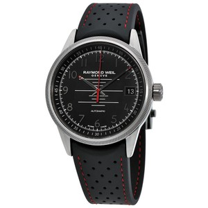 Raymond Weil Freelancer Black Dial Date Automatic Men's Sports Rubber Strap Watch