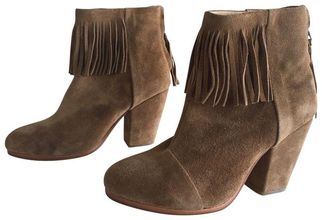 Item - Camel Newbury Fringe Suede Ankle Boots/Booties Size EU 36.5 (Approx. US 6.5) Regular (M, B)