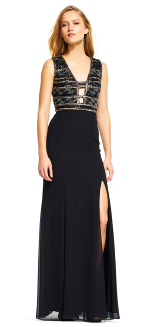 Adrianna Papell Lbd Beaded Party Classy Dress Image 2