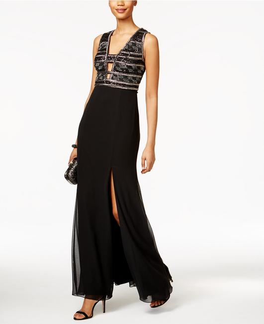 Adrianna Papell Lbd Beaded Party Classy Dress Image 3