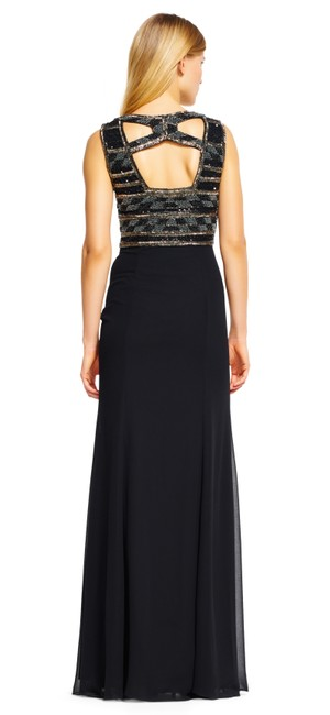 Adrianna Papell Lbd Beaded Party Classy Dress Image 4