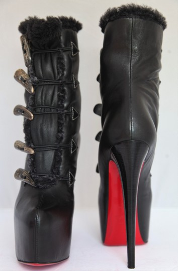 Christian Louboutin Ankle Over Knee Heel Thigh High Black Boots