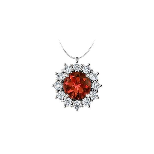 Preload https://img-static.tradesy.com/item/22555953/red-silver-round-garnet-and-cz-halo-pendant-in-925-sterling-125cttgw-necklace-0-1-540-540.jpg
