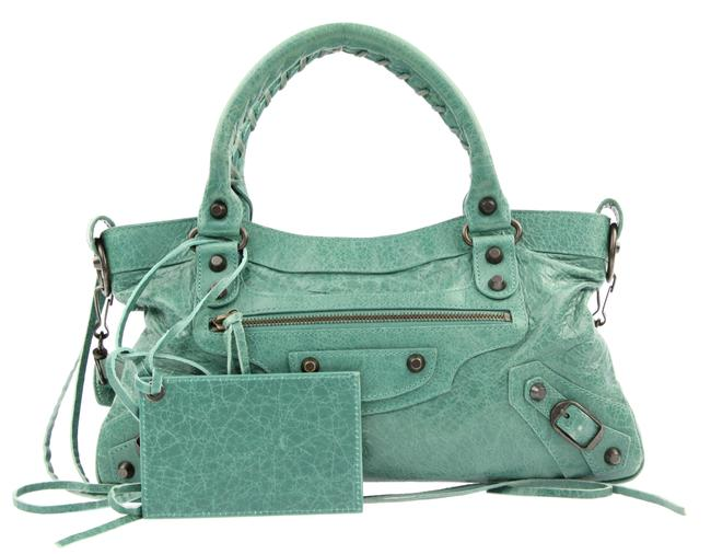Item - Motocross Classic First Green Lambskin Leather Shoulder Bag