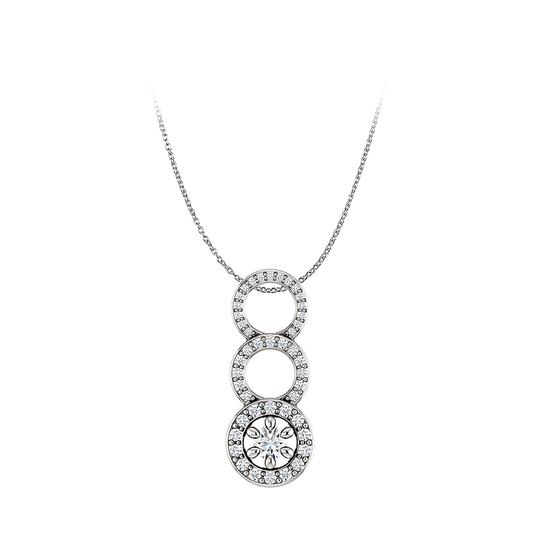 Preload https://img-static.tradesy.com/item/22556076/white-silver-one-carat-cz-graduated-circle-pendant-in-925-necklace-0-0-540-540.jpg
