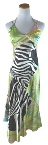 Roberto Cavalli Painted Silk Dress