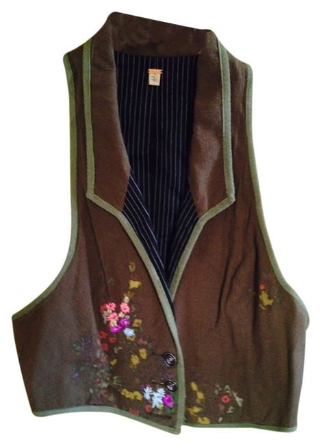 Preload https://item3.tradesy.com/images/free-people-brown-with-green-border-funky-vest-button-down-top-size-12-l-2255617-0-0.jpg?width=400&height=650