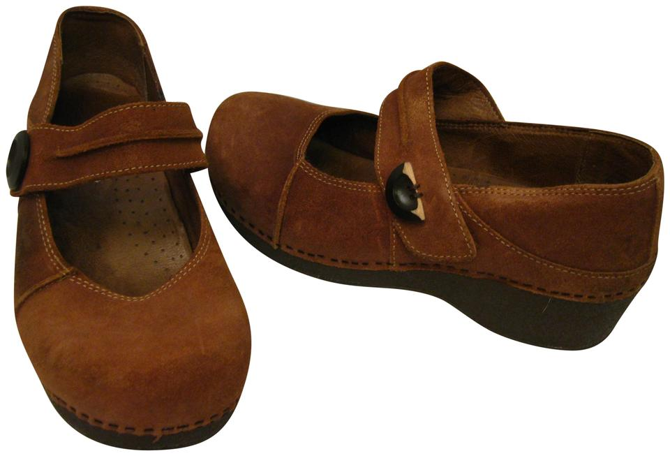 dansko brown suede leather maryjanes 40 9 5 mules slides size eu 40
