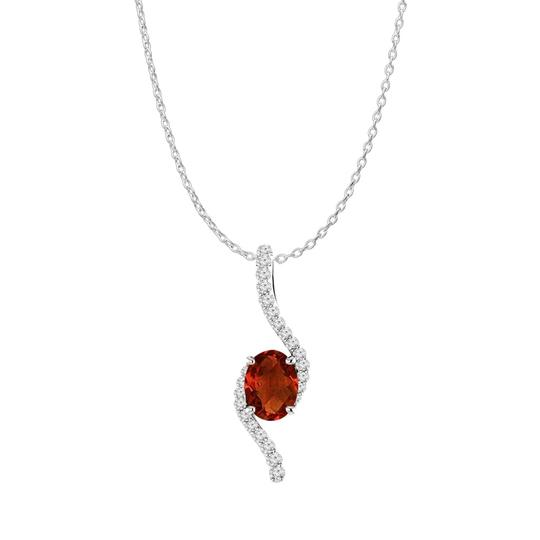 Preload https://img-static.tradesy.com/item/22556327/red-silver-oval-garnet-cz-accented-freeform-pendant-925-necklace-0-0-540-540.jpg