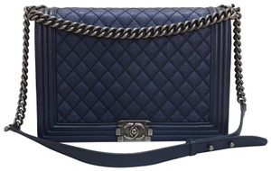 Chanel Large Quilted Le Boy Shoulder Bag
