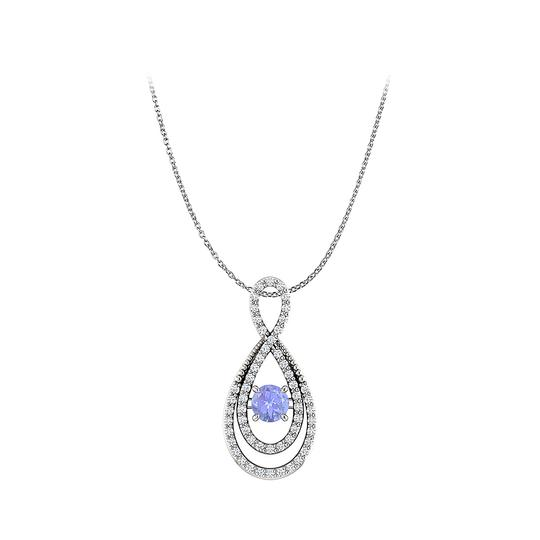 Preload https://img-static.tradesy.com/item/22556489/blue-silver-brilliant-cut-tanzanite-and-cz-infinity-pendant-necklace-0-0-540-540.jpg