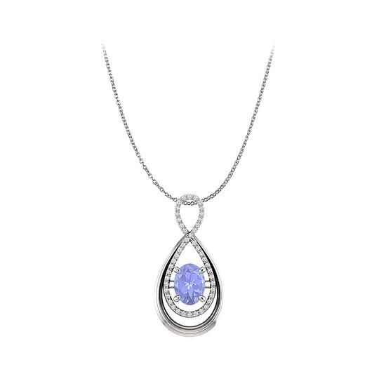 Preload https://img-static.tradesy.com/item/22556521/blue-silver-oval-tanzanite-and-round-cz-infinity-pendant-in-gold-necklace-0-0-540-540.jpg