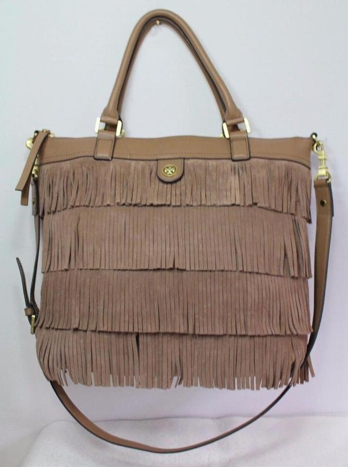 638c157f8dda Tory Burch Fringe Large Suede Boho Winter Tote in Light brown cocco Image  10. 1234567891011