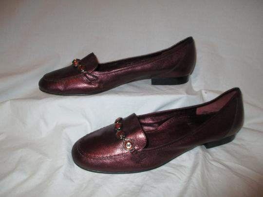 Antonio Melani Leather Loafer burgundy Flats